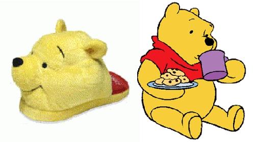тапки-игрушки для детей винни пух