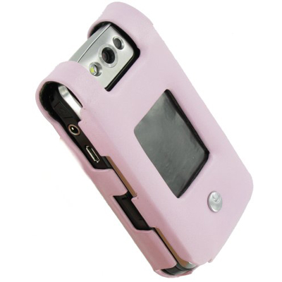 Чехол для BlackBerry Pearl Noreve Pink Leather Flip Case