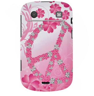 Чехол для BlackBerry Bold 9930,BlackBerry Bold 9900 Rubberized Protector Case - Peace & Love