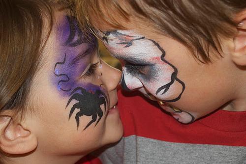 раскраска детских лиц