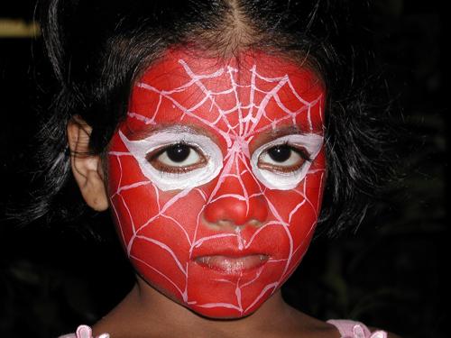 роспись лица супергерой