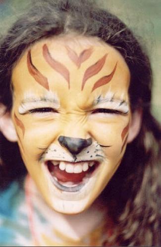 роспись лица ребенка