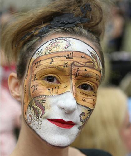 Роспись кожи лица