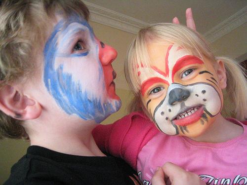 раскраска лиц детей