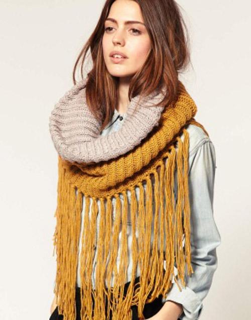 тёплый шарф снуд