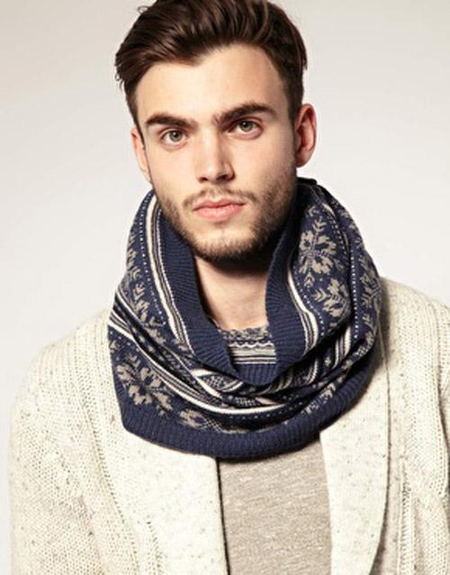 мужской снуд шарф