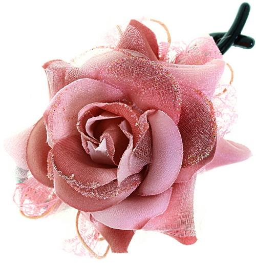 заколка зажим роза что подарить девушке