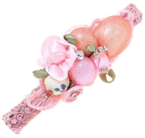 заколка-зажим розовый букет подарить девушке на новый год