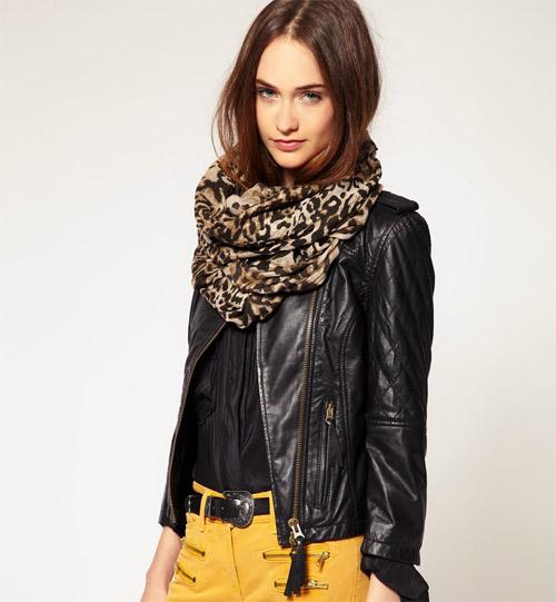 шарф круговой женский