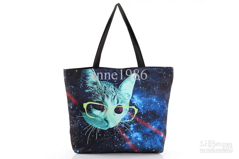 Wholesale - FREE SHIPPING Fashion Walker HB002 Galaxy Starry Women Handbag Computer LAPTOP Ipad Shoulder Bag Recycle