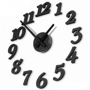 black-Wall-clock-DIY-clock-ornamental-clock-Free-S